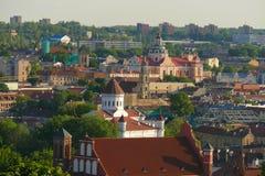 Panorama de la ville de Vilnius avec beaucoup de monuments, églises, c Image libre de droits