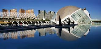 Panorama de la ville des arts et de la Science, Valence images libres de droits