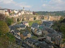 Panorama de la ville du Luxembourg Photographie stock libre de droits