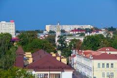 Panorama de la ville de Grodno avec vue sur les intercess saints photographie stock libre de droits