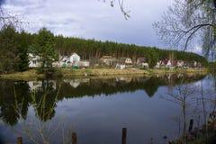Panorama de lac Images stock