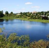 Panorama de lac bow Photographie stock