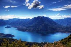 Panorama de lac Como Images libres de droits
