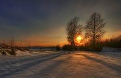 Panorama de lac de l'hiver photographie stock