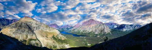Panorama de lac deux medicine Photos libres de droits