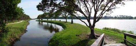 panorama de lac du clearwater la Floride Photographie stock libre de droits