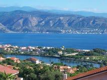 Panorama de lac et de mer Photographie stock libre de droits
