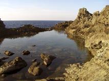 Panorama de lac et de mer Image libre de droits