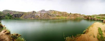 Panorama de lac Iacobdeal Image libre de droits