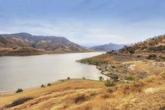 Panorama de lac Kaweah en Californie, Etats-Unis images libres de droits