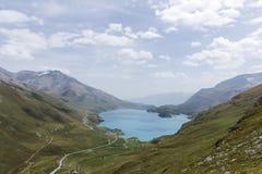 Panorama de lac Mont-Cenis - Val-Cenis - France de la Savoie, vue Photo stock