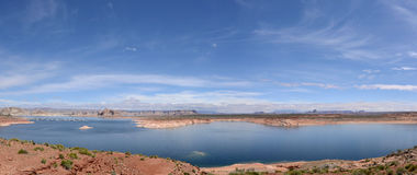 Panorama de lac Powell Image libre de droits