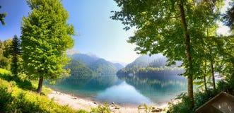 Panorama de lac Ritza Image libre de droits