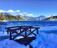 Panorama de lac saigné, Slovénie image libre de droits