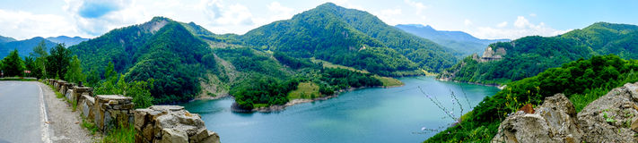 Panorama de lac Siriu Images libres de droits