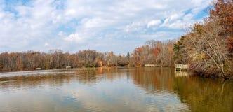 Panorama de lac Smithville Photographie stock libre de droits