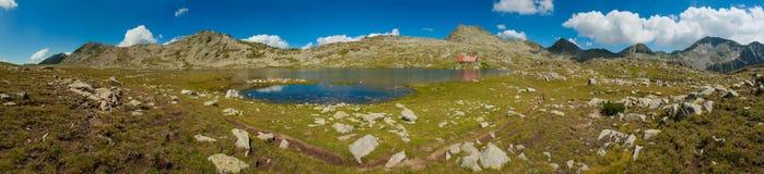 Panorama de lac Tevno Photos libres de droits
