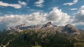 Panorama de Lagazuoi Photographie stock libre de droits