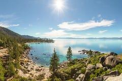 Panorama de Lake Tahoe Fotografía de archivo
