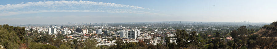 Panorama de large échelle de Los Angeles Photo libre de droits