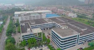 Panorama de las cercanías de Gunzhou, opinión aérea de las casas y de las fábricas almacen de video