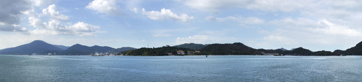 Panorama de las islas de Langkawi Fotos de archivo libres de regalías
