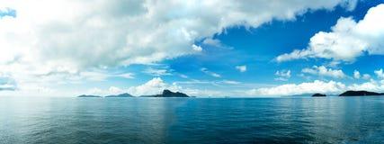 Panorama de las islas del Pentecostés fotos de archivo libres de regalías