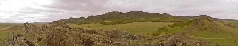 Panorama de las montañas Imagen de archivo libre de regalías