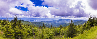 Panorama de las montañas de Appalacian Foto de archivo