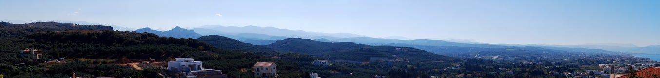 Panorama de las montañas de Cretes Foto de archivo