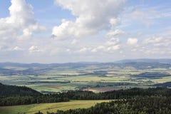 Panorama de las montañas de Sudety Imagen de archivo