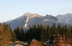 Panorama de las montañas de Tatra en la Polonia del sur foto de archivo libre de regalías