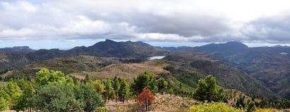 Panorama de las montañas de Gran Canaria Foto de archivo