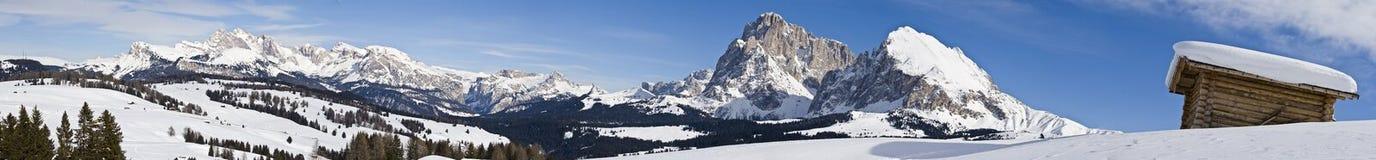 Panorama de las montan@as de la montaña Foto de archivo libre de regalías