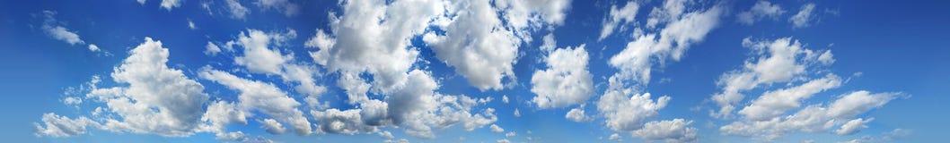 Panorama de las nubes Imágenes de archivo libres de regalías