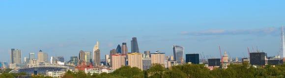 Panorama de las señales del horizonte de Londres Imagenes de archivo