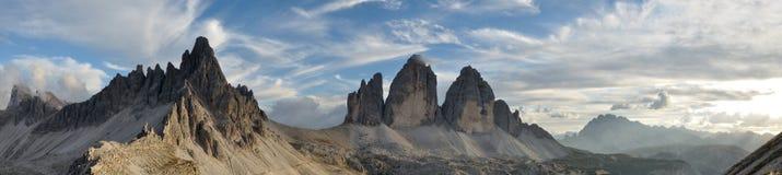 Panorama 1 de Lavaredo de trois crêtes Photographie stock libre de droits