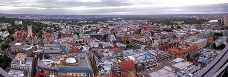 Panorama de Leipzig images libres de droits