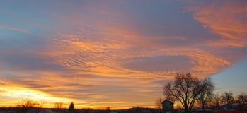 Panorama de lever de soleil Photo stock