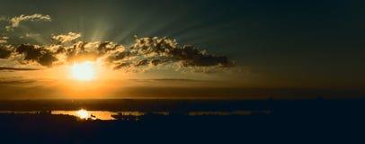Panorama de lever de soleil Photos libres de droits