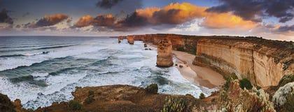 Panorama de lever de soleil d'apôtres de GOR 6 Images stock