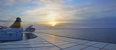 Panorama de lever de soleil de bac Images libres de droits