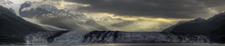 Panorama de lever de soleil de glacier de Harvard Images libres de droits