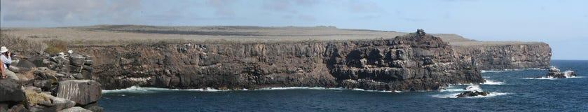 Panorama de ligne de côte d'Espanola (Galapagos) Images libres de droits