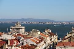 Panorama de Lisboa, Portugal Fotos de archivo libres de regalías