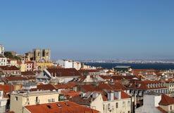 Panorama de Lisboa, Portugal Imagen de archivo libre de regalías