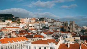 Panorama de Lisboa Timelapse 4K Lisboa es la capital y la ciudad más grande de Portugal Lisboa es el ` continental s de Europa almacen de metraje de vídeo