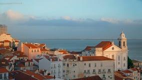 Panorama de Lisboa Timelapse 4K Lisboa es la capital y la ciudad más grande de Portugal Lisboa es el ` continental s de Europa almacen de video