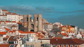 Panorama de Lisboa Timelapse 4K Lisboa es la capital y la ciudad más grande de Portugal Lisboa es el ` continental s de Europa metrajes