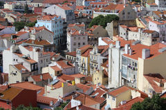Panorama de Lisbonne, capitale, Portugal Images stock